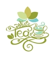 Lettering - White Tea vector image vector image