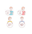 location quick tips and face accepted icons vector image vector image