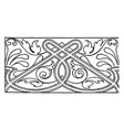 majolica dish link border is a design found on a vector image vector image