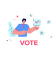 man made his choice voting young man vector image