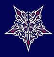 mandala geometry star blue-white-pink vector image