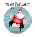 Merry christmas of funny yoga santa
