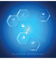 Modern Hexagon Business Infographic Background vector image vector image