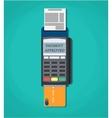 Modern POS payment terminal vector image vector image