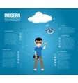 Modern Technology vector image vector image