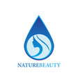 nature beauty logo vector image vector image