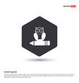 owl icon hexa white background icon template vector image