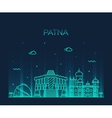 Patna skyline silhouette linear style vector image vector image