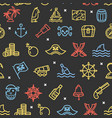 pirate signs seamless pattern background on a vector image