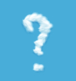 Question Mark Shaped Cloud vector image vector image