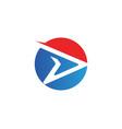 r logo faster logo template icon design vector image
