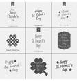 Saint Patricks Day Typography Design Set vector image vector image