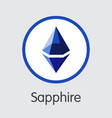 sapphire cryptocurrency sph coin symbol vector image