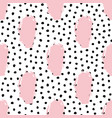 seamless trendy messy geometric and polka dot vector image vector image