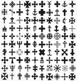 set crosses various religious symbols vector image vector image