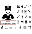 Set of 24 Police Icons vector image vector image