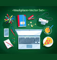 set of office workplace vector image vector image