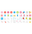 sewing and handcraft elements icon flat design vector image