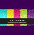 shamrock pattern set juicy splash seamless vector image