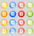 Share icon sign Set from fourteen multi-colored vector image vector image