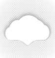 Speech cloud template on transparent background vector image vector image