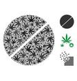 tablet mosaic of marijuana vector image vector image