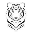 tiger logo black white a vector image