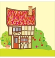 Tudor house vector image