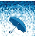 Umbrella on abstract geometric background vector image vector image