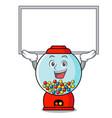 up board gumball machine character cartoon vector image vector image