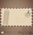 Vintage envelope designs with postage stamp vector image
