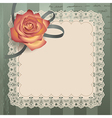 vintage lace square vector image vector image
