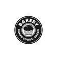 vintage round badge bakery cupcake logo designs vector image
