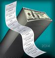 2014 Tall Wavy Calendar Money vector image vector image