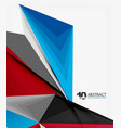 3d triangle polygonal abstract
