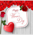 8 march international happy womens day card vector image vector image
