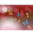 A paper with butterflies vector image vector image