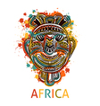 african tribal mask with geometric ornament vector image
