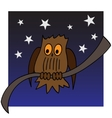 an owl on a branch vector image