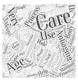 Antiaging Skin Care Word Cloud Concept vector image vector image