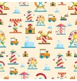 Attraction seamless pattern vector image