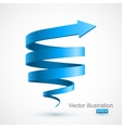 Blue spiral arrow 3D