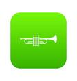 brass trumpet icon digital green vector image
