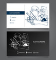 business card surveyor vector image vector image
