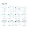 calendar 2020 year vector image