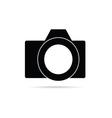 camera icon in black vector image vector image