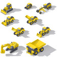 career and construction transport isometric icon vector image vector image