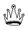 cartoon crown icon image vector image vector image