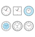 clock clock icon set vector image vector image