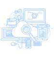 cloud computing service and internet abstract desi vector image vector image